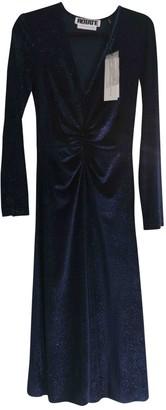 Rotate by Birger Christensen Blue Velvet Dresses