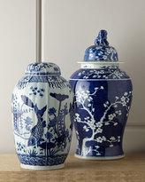 Horchow Vintage Blue-Ground Jar