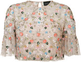 Needle & Thread embellished embroidered top - women - Polyester - 0