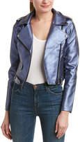 Romeo & Juliet Couture Foil Moto Jacket
