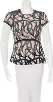 Yigal Azrouel Silk Short Sleeve Top