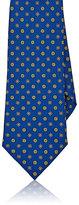 Isaia Men's Medallion-Pattern Silk Necktie-BLUE