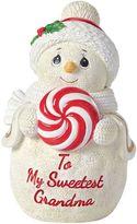 "Precious Moments To My Sweetest Grandma"" Snowman Christmas Figurine"