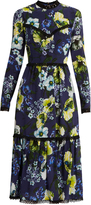 Erdem Georgie Hasu Night-print silk-crepe dress