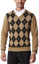Haggar V Neck Argyle Sweater
