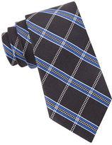Black Brown 1826 Silk Grid Plaid Tie