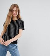 Monki Stripe Boyfriend T-Shirt