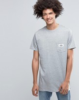 Cheap Monday Dragged Long T-Shirt Logo Pocket Gray