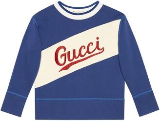 Gucci Kids' Logo Embroidered Sweatshirt