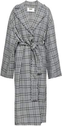 Zimmermann Frayed Checked Wool Jacket