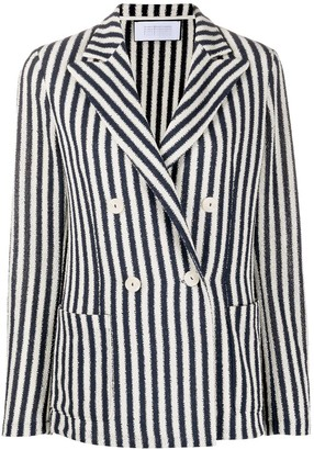 Harris Wharf London Double-Breasted Striped Blazer