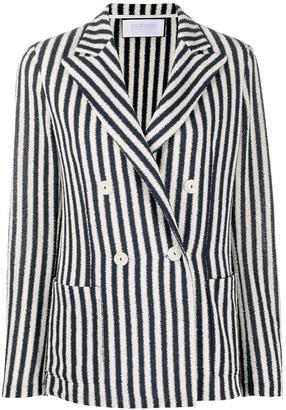 Harris Wharf London Double-Breasted Striped Blazer