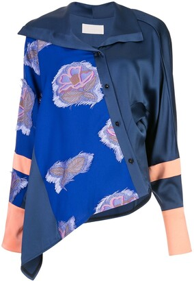 Peter Pilotto Panelled Fil Coupe And Satin Shirt