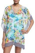 Tommy Bahama Fleur de Lite Floral-Print Coverup Tunic