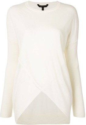 BCBGMAXAZRIA Wrap-Effect Knitted Top