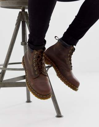 Dr. Martens 939 6 eye boots in brown leather