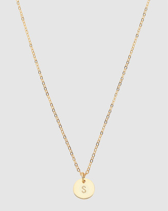 Dear Addison Initial S Letter Necklace