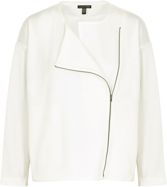 Eileen Fisher White Stretch-jersey Jacket