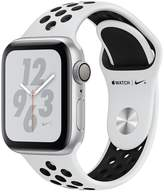 Apple Watch Nike+ Series 4 (GPS), 40mm Silver Aluminium Case With Pure Platinum/Black Nike Sport Band