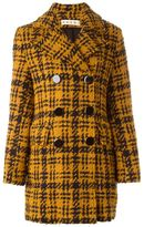 Marni three-dimensional checked coat - women - Wool/Polyamide/Viscose/Cotton - 40