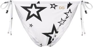 Dolce & Gabbana Millenials Star print bikini bottoms