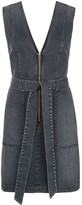 Alice + Olivia Gorgeous zip-through denim mini dress