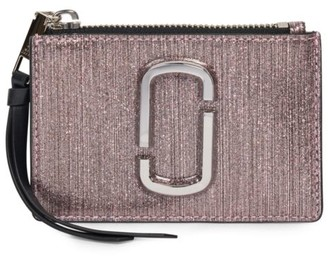 Marc Jacobs The Snapshot Metallic Leather Card Case