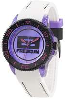 Freegun Girl's Quartz Watch with Fushia Dial Analogue Display and Plastic White - EE5064