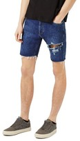 Topman Men's Ripped Slim Fit Denim Shorts