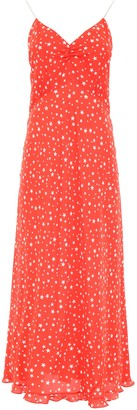 Miu Miu Star Print Midi Dress