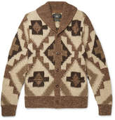 RRL - Beacon Shawl-collar Knitted Cardigan - Brown