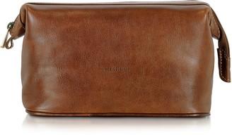 Chiarugi Brown Genuine Leather Beauty Case