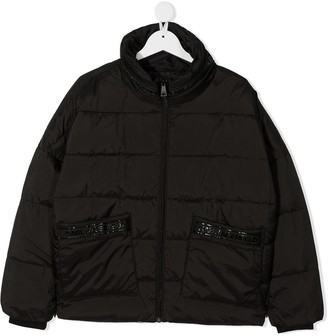 Karl Lagerfeld Paris TEEN padded bomber jacket