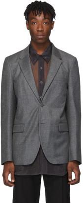 Helmut Lang Grey Wool Flannel Blazer