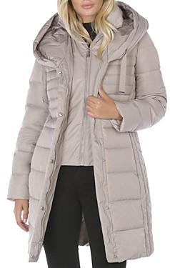 T Tahari Mia Hooded Puffer Coat