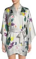 Meng Floral Short Kimono Robe