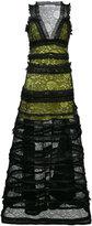 Givenchy tiered zip trim dress