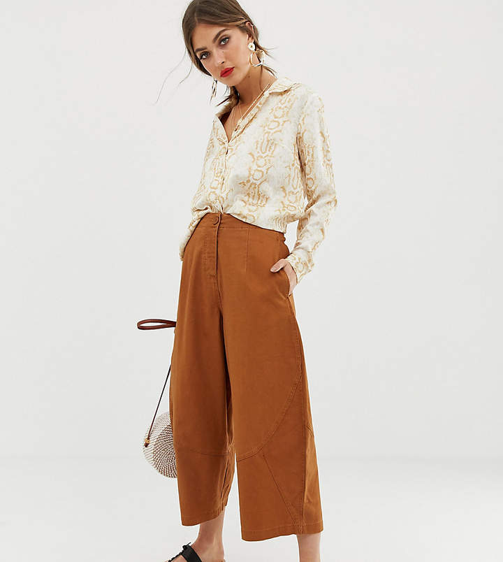 Asos Design DESIGN casual trouser with balloon leg