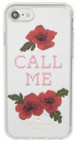 Kate Spade Needlepoint Call Me Iphone 7/8 & 7/8 Plus Case - Red
