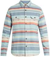 Faherty Geometric-striped brushed-cotton shirt