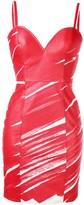 Moschino scribble bodycon dress