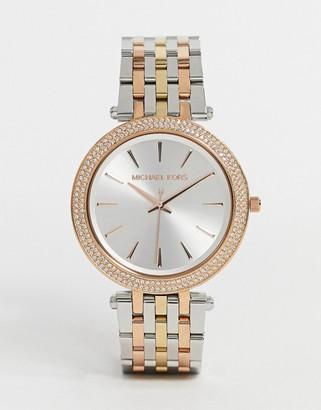 Michael Kors Darci mix metal bracelet watch MK3203