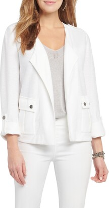 Nic+Zoe In Flight Linen Blend Knit Jacket