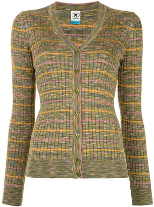 M Missoni Striped Ribbed-Knit Cardigan