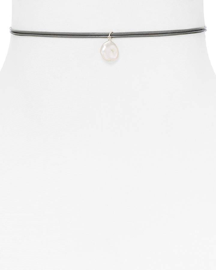 Dogeared Freshwater Pearl Leather Choker Necklace - 100% Exclusive