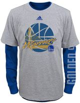 adidas Boys 4-7 Golden State Warriors Cager Tee Set
