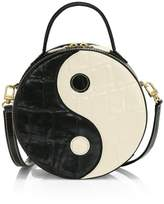STAUD Yin Yang Croc-Embossed Leather Crossbody Bag