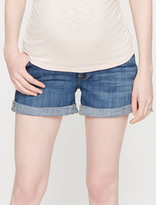 A Pea in the Pod 7 For All Mankind Secret Fit Belly Cuffed Maternity Shorts