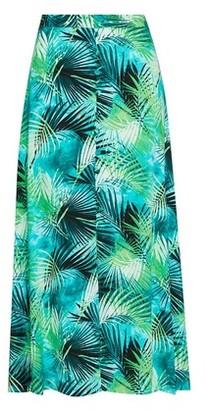 Dorothy Perkins Womens Multi Colour Tropical Print Midi Skirt
