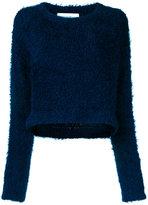 Le Ciel Bleu cropped furry top - women - Polyester - 36